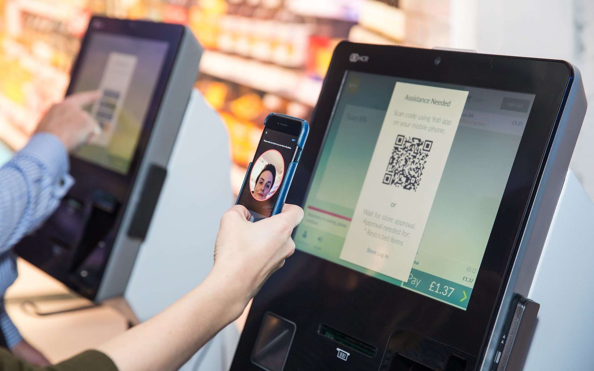 Supermarket self-service tills replace ID checks with facial recognition